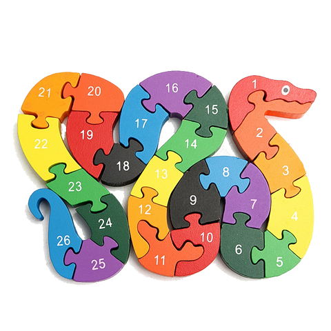 Educational Wooden Snake Puzzle Game Toys