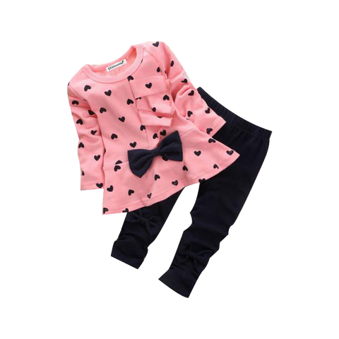 Cute Retro Set Of Polka Dots Dress With Lace And Leggings (12 To 24 Months) Apparel