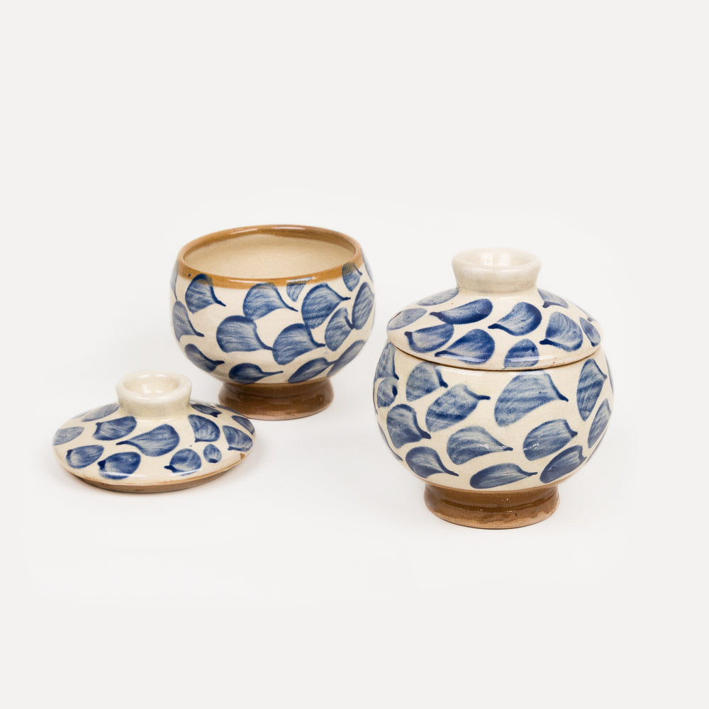 Habiba Jar - Blue Swirls