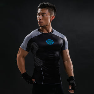 New Comic Superhero Compression Shirt