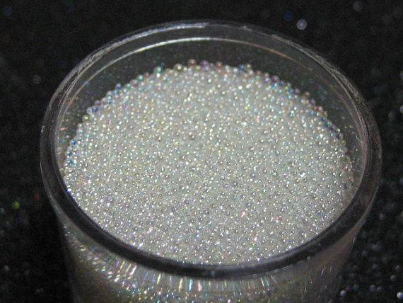 0.6-08mm tiny iridescent fake sugar sprinkles/microbead half ounce/10grams clear glass miniature micro bead marbles nail caviar - iGsel- E-handels Kungen, Kvalitet, billigt & Snabbt!
