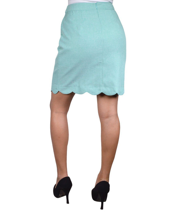 Scalloped mod style a-line skirt