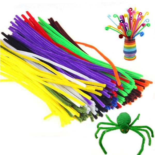 100 Pcs Kids Child Plush Sticks DIY Materials Shilly Handmade Christmas Gift Toy Plush Sticks Toys for children kids