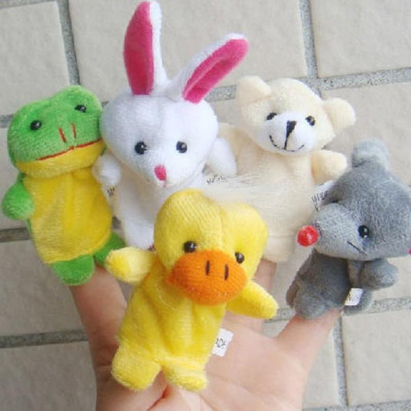 10pcs Cartoon Animal Finger Puppet Plush Child Baby Early Education Toys Gift Puppet Finger toys for children kids