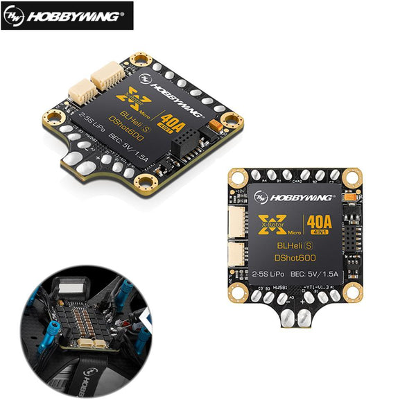 1pcs Hobbywing 4in1 XRotor Micro 40A 2-5S BLHeli_S DShot600 Ready FPV Racing Brushless ESC Support DShot/300/600  For RC drone