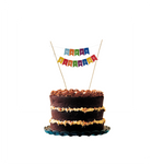 Cake Topper Happy Birthday - Multicolor