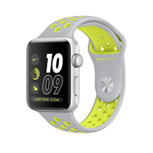 Load image into Gallery viewer, Apple Watch Nike+ MNYP2 38mm Aluminium Silver Nike Plastic Sport Band Flat Silver Volt (ZP-A) - Jamesen
