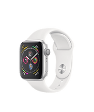 Load image into Gallery viewer, Apple Watch Series 4 Sport 40mm (GPS plus LTE) Aluminium Silver Sport Band White - Jamesen
