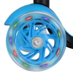 Tricycle Scooter Cityroller/Sitting LED Wheels * BLUE *