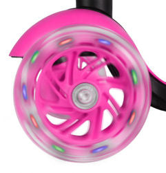Tricycle Scooter LED Wheels PINK
