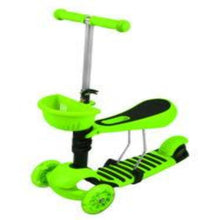 Load image into Gallery viewer, Tricycle Scooter Cityroller/Sitting LED Wheels  * GREEN