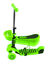 Tricycle Scooter Cityroller/Sitting LED Wheels  * GREEN