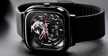 Load image into Gallery viewer, Xiaomi MI CIGA Design Hollowed-out Mechanical Watch Black - Jamesen