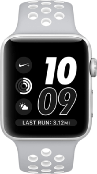 Apple Watch Series 3 Sport Nike Plus 38mm Aluminium Silver Plastic Sport Band Platinum Black - Jamesen