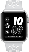 Load image into Gallery viewer, Apple Watch Series 3 Sport Nike Plus 38mm Aluminium Silver Plastic Sport Band Platinum Black - Jamesen