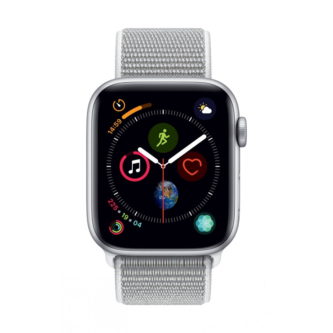 Apple Watch Series 4 Sport 44mm (GPS only) Aluminium Silver Sport Loop Band White - Jamesen