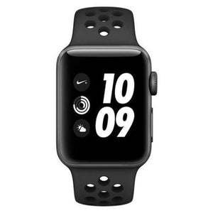 Apple Watch Series 3 Sport Nike Plus 38mm Aluminium Anthracite Plastic Sport Band Black - Jamesen
