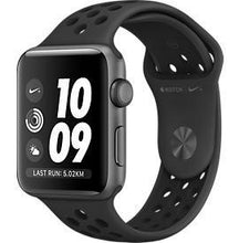 Load image into Gallery viewer, Apple Watch Series 3 Sport Nike Plus 38mm Aluminium Anthracite Plastic Sport Band Black - Jamesen