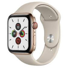 Load image into Gallery viewer, Apple Watch Series 5 44mm (GPS + Cellular) Stainless Steel Gold Band Sand Beige - Jamesen