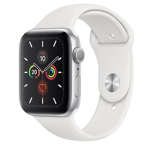Apple Watch Series 5 44mm (GPS + Cellular) Aluminium Case Silver Sport Band White - Jamesen
