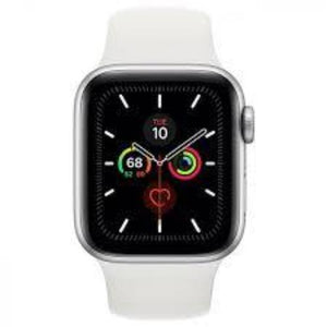 Apple Watch Series 5 44mm (GPS + Cellular) Aluminium Case Silver Sport Band White