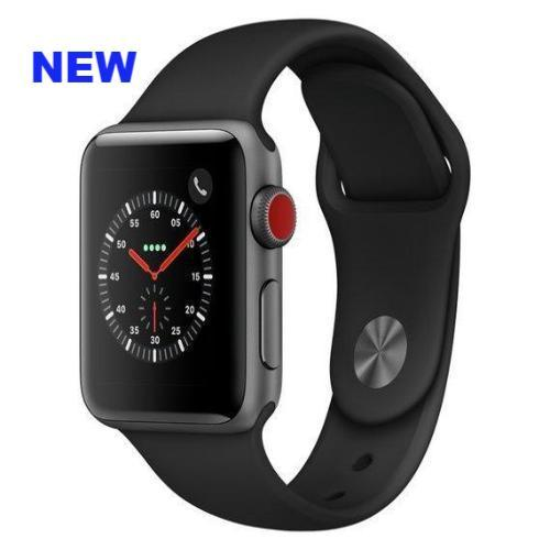 Apple Watch Series 3 Sport 42mm (GPS plus LTE) Aluminium Plastic Sport Band Gray - Jamesen