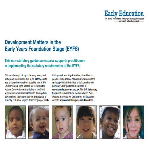 Development Matters in the Early Years Foundation Stage (EYFS)