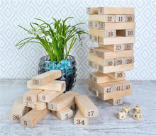 Load image into Gallery viewer, Dice Stacking Wood Game