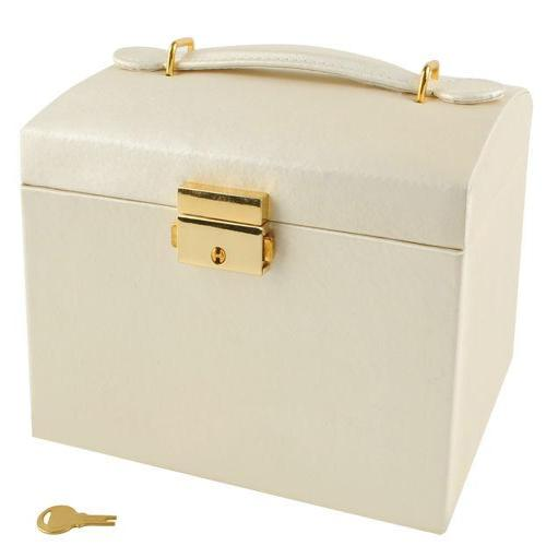 Jewellery Lockable Suitcase Box 3 colours Gold - Jamesen