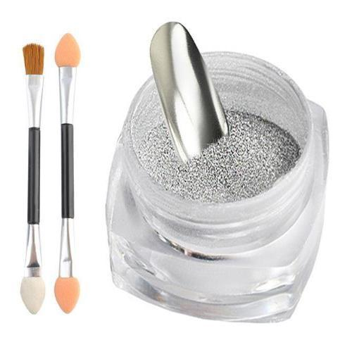 Mirror Magic Chrome Effect Nail Dust Silver - Jamesen
