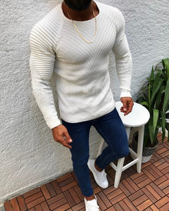 Sexy Slim Fit O-Neck Sweater Men - Jamesen