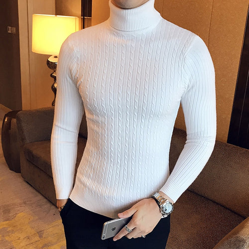 Slim Turtleneck Sweater - Men - Jamesen