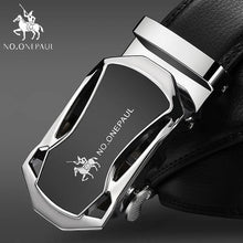 Load image into Gallery viewer, Automatic Buckle Black Genuine Leather Belt - Men - Jamesen