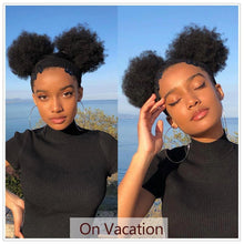 Load image into Gallery viewer, Mongolian Afro Kinky Curly Human Hair Bundles With Closure - Jamesen