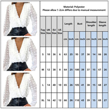 Load image into Gallery viewer, V Neck Jacquard Blouse - Women - Jamesen
