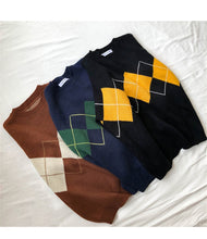Load image into Gallery viewer, College Geometric Pattern Pullovers - Women