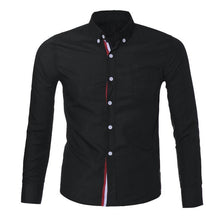 Load image into Gallery viewer, Men's Button Shirt Chemise Homme Slim Fit Long Sleeve