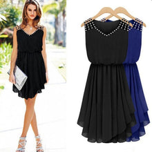 Load image into Gallery viewer, Elegant Chiffon Sleeveless Dress -Women