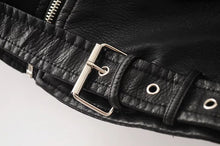 Load image into Gallery viewer, PU Leather Jacket with Zipper