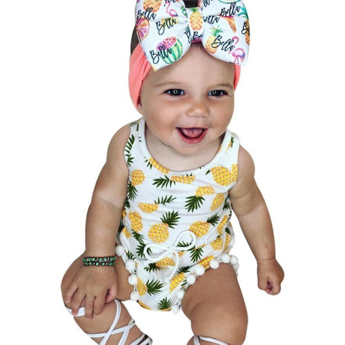 Baby Girls summer Jumpsuit Romper - Jamesen