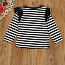 Load image into Gallery viewer, Spring Autumn T shirt 2017 Brand baby girls fly long sleeve lace - tops