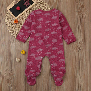 Newborn Toddler Baby Boy Clouds Printed Romper Pack feet Jumpsuit