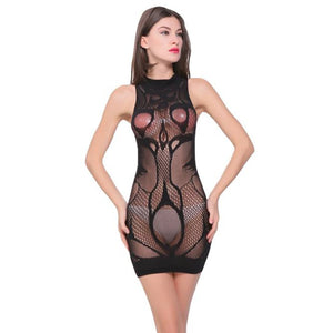 Sexy Women Lingerie Lace Chemise Dress