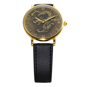 North Fashion Men Quartz Wrist Watch - Leather Band
