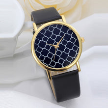 Load image into Gallery viewer, Geometry Pattern Leather Band Men Watch