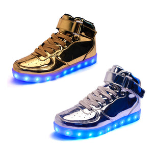 Unisex Golden / Silver LED Sneakers
