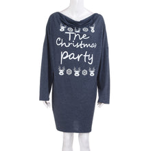 Load image into Gallery viewer, Women Print Letters Plus Size Mini Party Dress