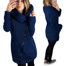 Load image into Gallery viewer, Winter Coat - Knitted Zipper Cotton blend Coat Turtleneck - Estimated Delivery 10-20 Days
