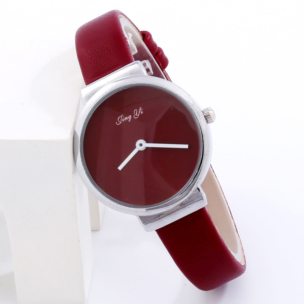 Simple Fashion Men Leather Watch