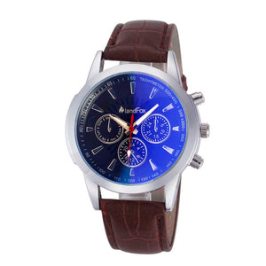 Men Luxury Crocodile Faux Leather Analog Watch